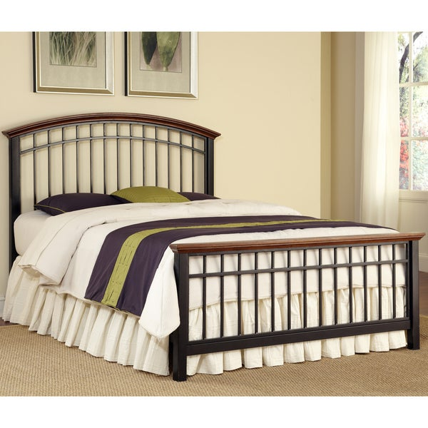 Modern Craftsman Oak Queen-size Bed by Home Styles