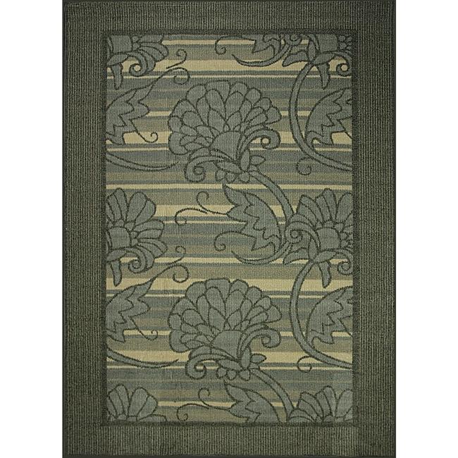 Somette Morning Song Grey Indoor/Outdoor Area Rug (5'x7')