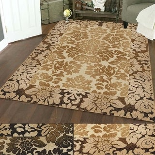 Admire Home Living Amalfi Paradise Floral Print Area Rug (7'9 x 11') - 7'9 x 11'