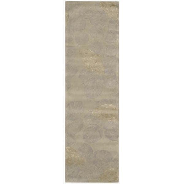 Nourison Hand-tufted Julian Grey Wool Rug (2'3 x 8')