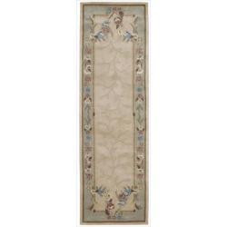 Nourison Hand-tufted Julian Beige Floral Rug (2'3 x 8')