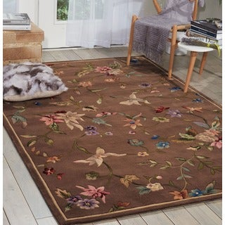 Nourison Hand-tufted Julian Mushroom Wool Rug (3'6 x 5'6)