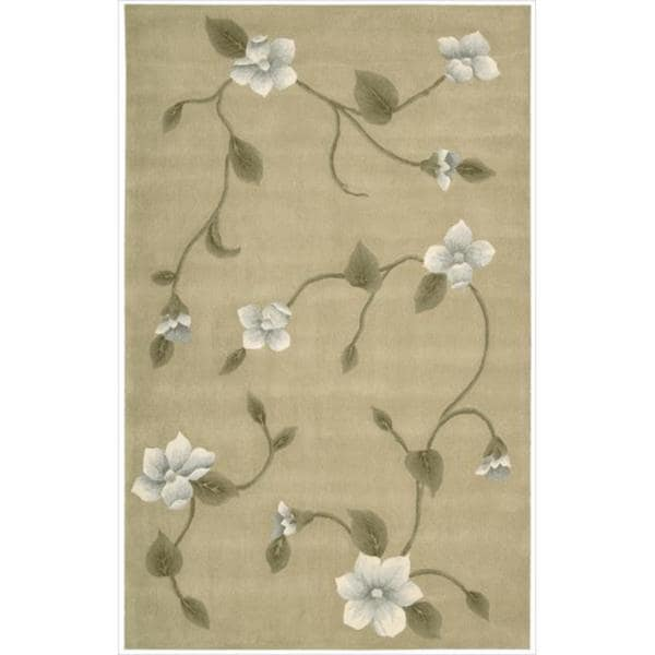 Nourison Hand-tufted Julian Light Gold Wool Rug (5'3 x 8'3)