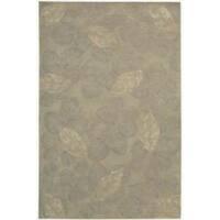 Nourison Hand-tufted Julian Grey Wool Rug (5'3 x 8'3) - 5'3 x 8'3