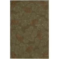 Nourison Hand-tufted Julian Light Brown Wool Rug (5'3 x 8'3)