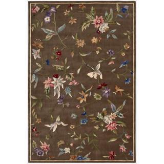 Nourison Hand-tufted Julian Mushroom Wool Rug (5'3 x 8'3)