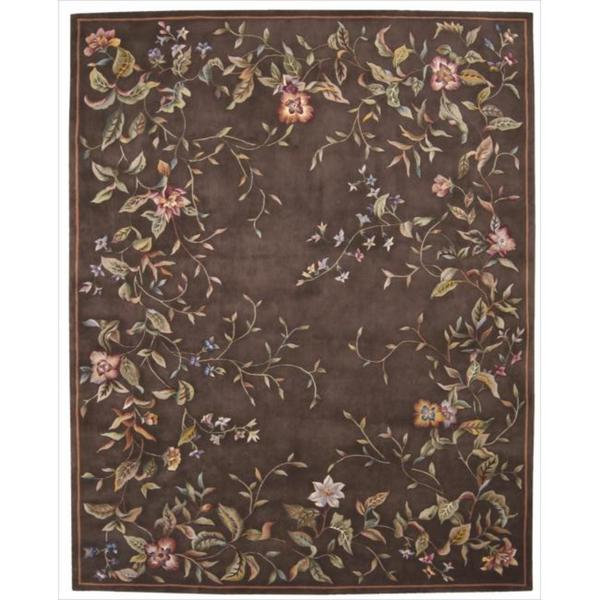 Nourison Hand-tufted Julian Brown Wool Rug (5'3 x 8'3)