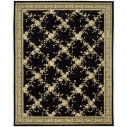 Nourison Hand-tufted Julian Black Wool Rug (5'3 x 8'3)