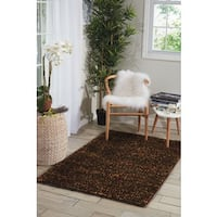 Nourison Fantasia Brown Shag Area Rug - 8' x 11'