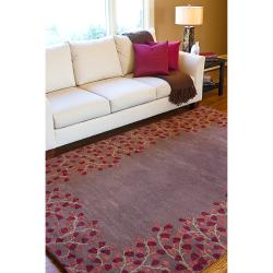 Hand-tufted Rennes Chocolate Wool Rug (2' x 3') - Thumbnail 2