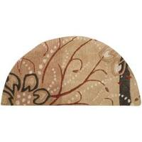 Hand-tufted Grenoble Tan Floral Wool Area Rug (2' x 4')