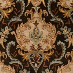 Hand-tufted Ashland Black Wool Rug (2' x 3') - Thumbnail 2