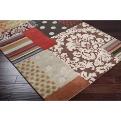 Hand-tufted Bayfield Brown Wool Rug (2' x 3') - Thumbnail 1