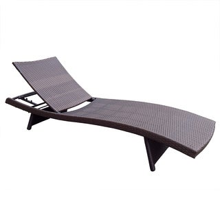 Wicker Adjustable Chaise Loungers (Set of 2)