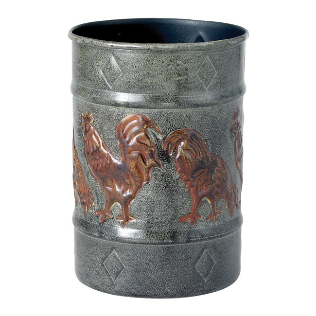 Old Dutch Rooster Grey/ Brown Kitchen Tool Caddy