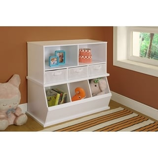 Badger Basketu0027s White Shelf Storage Cubby With Removable Baskets