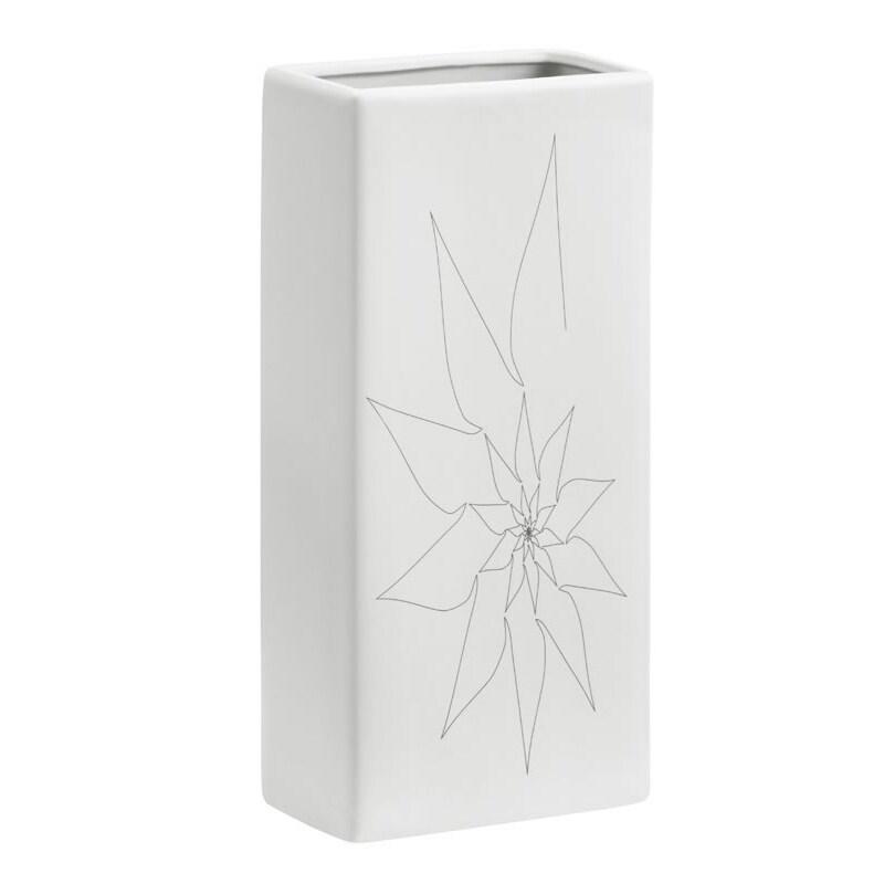 Blithe White Rectangular Vase