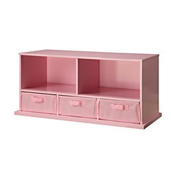 High Quality Badger Basket Pink Storage Cubby With Baskets