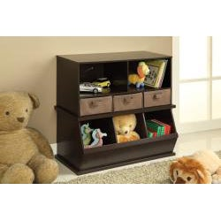 Badger Basket Espresso Storage Cubby with Baskets - Thumbnail 2