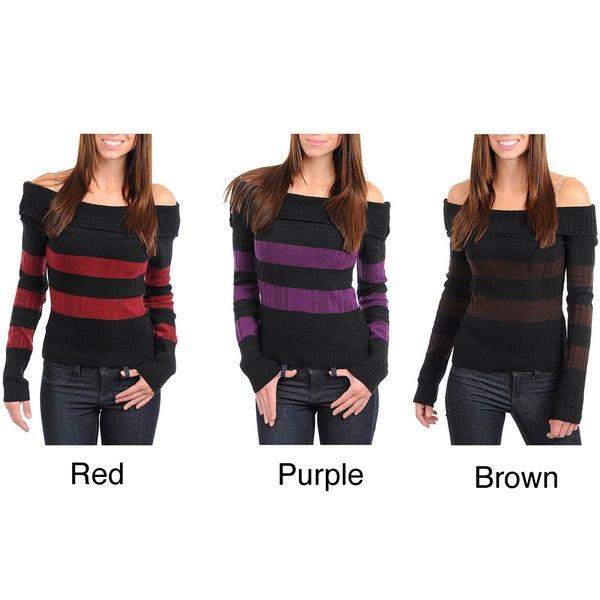 Stanzino Women's Off-shoulder Knit Sweater Top