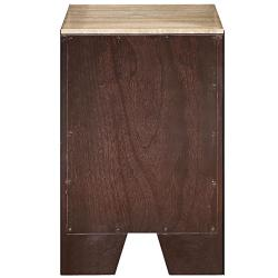 brushed nickel bathroom vanity side cabinet drawer bank thumbnail 2