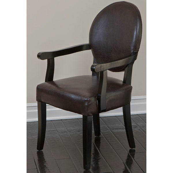 Henley Brown Bonded Leather Arm Chair by Christopher Knight Home