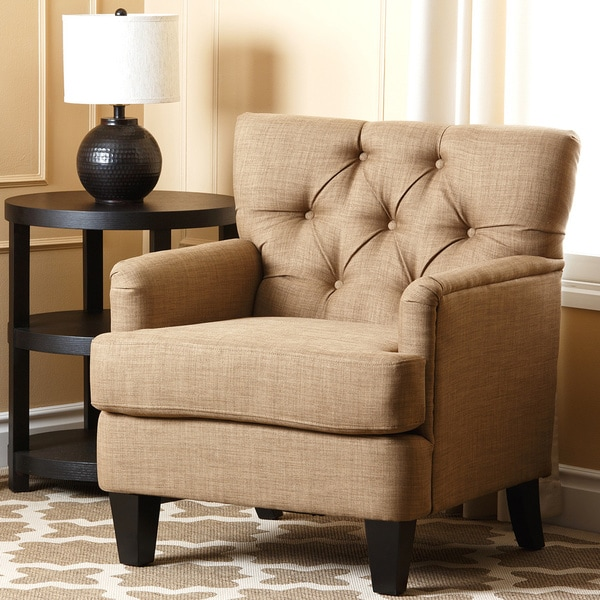 Abbyson Richmond Tufted Fabric Club Chair