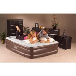 Double High QuickBed Queen-size Air Bed Electric Pump Combo - Thumbnail 1