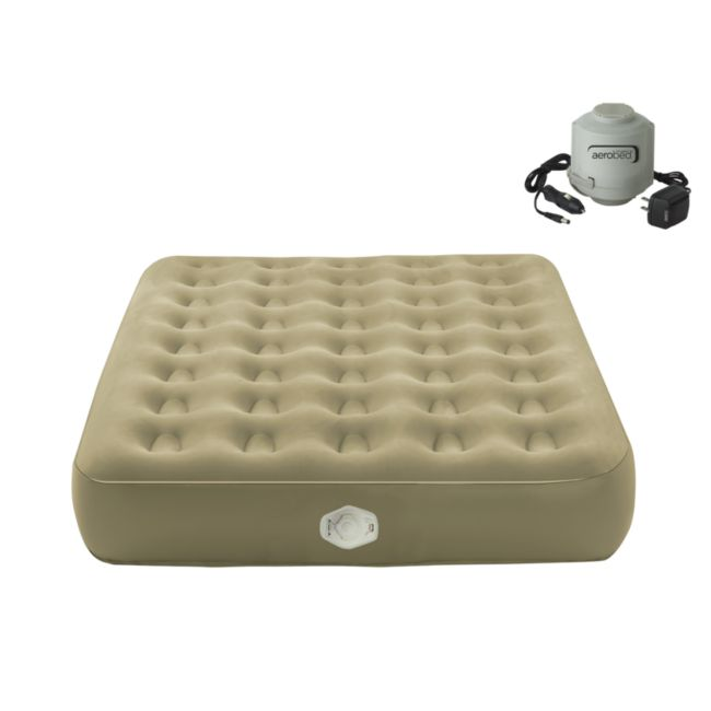 AeroBed Extra High Adventure Twin-size Tan Air Bed with Carry Bag
