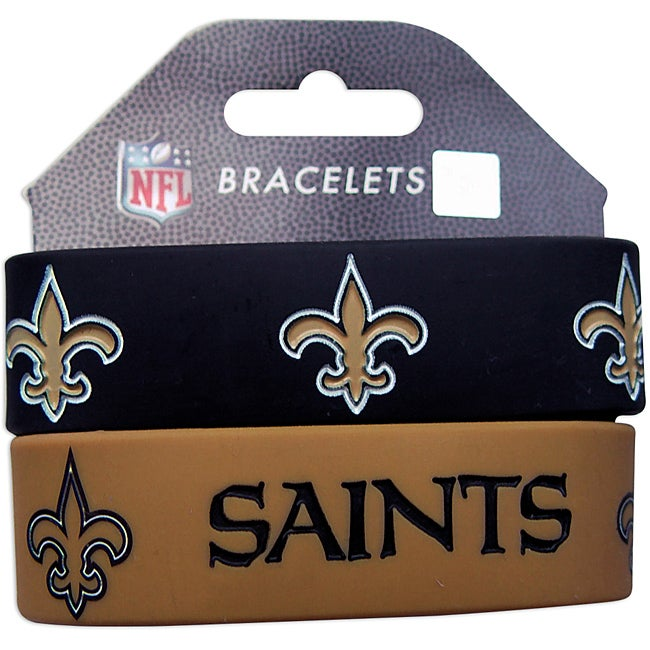 New Orleans Saints Wrist Bands (Set of 2) NFL - Thumbnail 0
