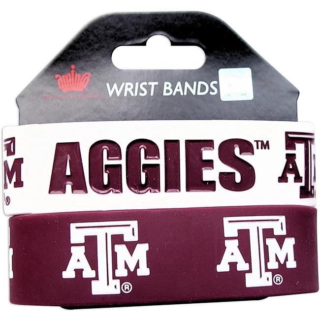 Texas A&M Rubber Wrist Band (Set of 2) NCAA