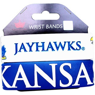 Kansas Jayhawks Rubber Wrist Band (Set of 2) NCAA