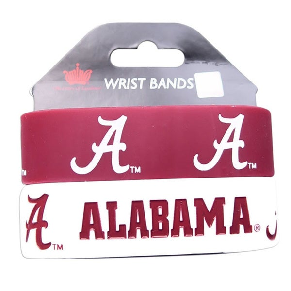 Alabama Crimosn Tide Rubber Wrist Band (Set of 2) NCAA