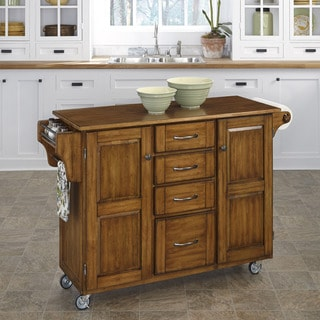 Create-a-Cart Oak Finish Cart by Home Styles