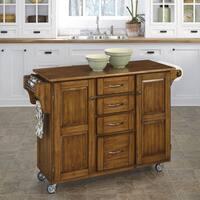 Gracewood Hollow Defoe Oak Finish Kitchen Cart