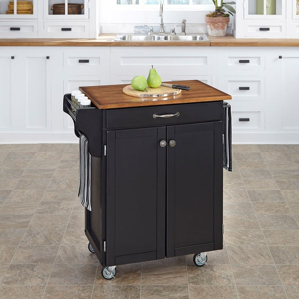 Black Finish Cuisine Cart by Home Styles
