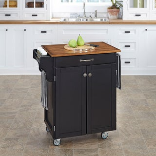 Home Styles Black Finish Cuisine Cart
