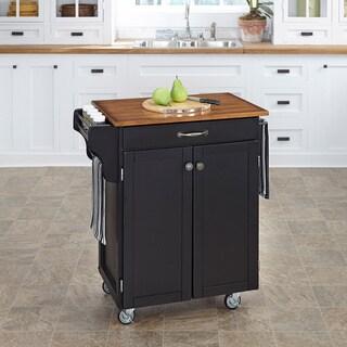 Home Styles Black Finish Wood Cuisine Cart
