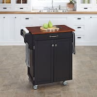 Copper Grove Hilo Black Finish Cherry Top Cuisine Cart