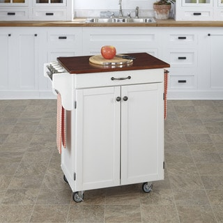 White Finish Cherry Top Cuisine Cart by Home Styles