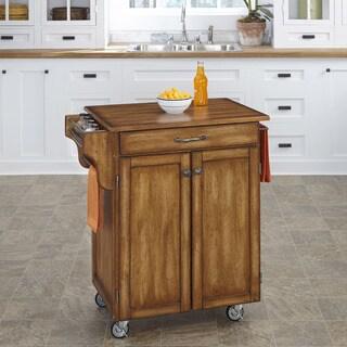 Oak Finish Oak Top Cuisine Cart by Home Styles