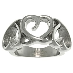 Carolina Glamour Collection Stainless Steel Triple Heart Ring