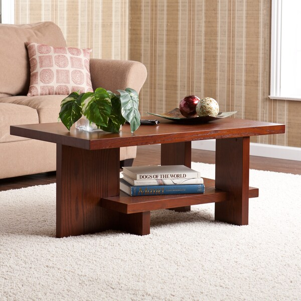Upton Home Benton Brown Mahogany Coffee Table