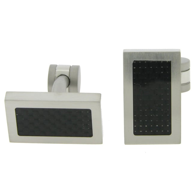 Stainless Steel Cufflink with Black IP