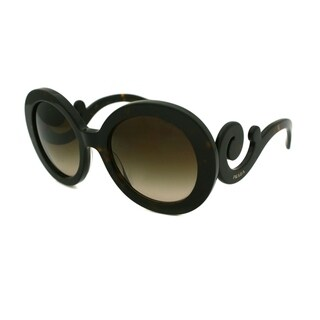 Prada PR 27NS 2AU6S1 55 Havana Woman Round Sunglasses