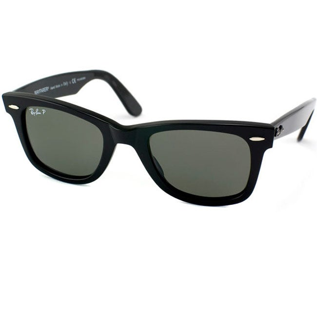 ray ban 2140 black  Ray-Ban RB2140 Original Wayfarer 901/58 Men\u0027s Polarized Sunglasses ...