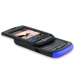 Black/ Blue Hybrid Case/ LCD Protector for Blackberry Torch 9800/ 9810 - Thumbnail 2