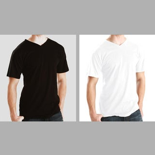 Men's Soft Cotton V-Neck T-shirt (3 Pack)