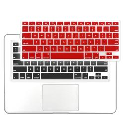 INSTEN Clear Red Snap-on Laptop Case Cover/ Keyboard Skin for Apple Macbook Pro 13-Inch