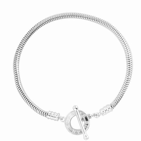 De Buman Sterling-silver Snake Charm Bracelet with Toggle Clasp